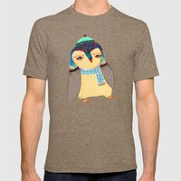 Cute Penguin  Mens Fitted Tee Tri-Coffee SMALL