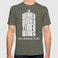 Talk Whovian to Me Mens Fitted Tee Lieutenant SMALL