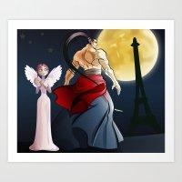 Monster In Paris Art Print