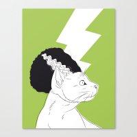 The Bride of Frankencat Canvas Print
