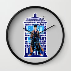 Tardis Doctor Who Typogr… Wall Clock