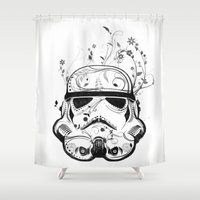 Flower Trooper Shower Curtain