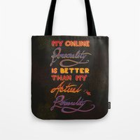 Online Personality Tote Bag