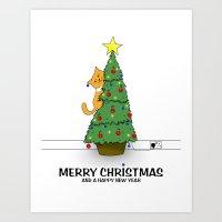 Lucy's Christmas Art Print