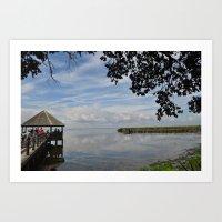 Water Landscape Scene Re… Art Print