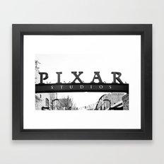 Pixar Sign- B&W Framed Art Print