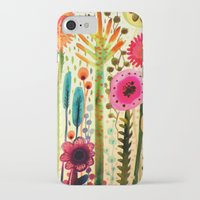 lady iPhone & iPod Cases featuring printemps by sylvie demers