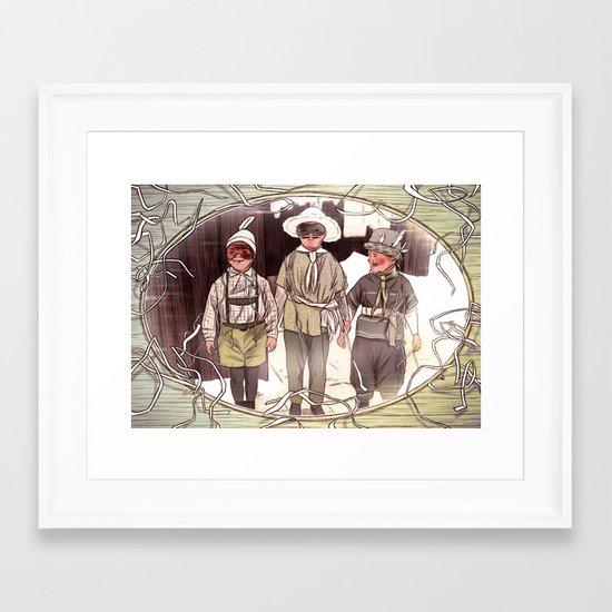 framed fellows Framed Art Print