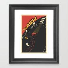 Run Barry Run Framed Art Print