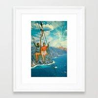 The Lift Framed Art Print