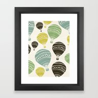 Framed Art Print featuring Balloons by SpinL