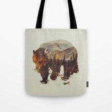 Wild Grizzly Bear Tote Bag