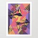 Dazzle Camo #03 - Purple & Yellow Art Print