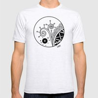 Ornate Square Zentangle,… Mens Fitted Tee Ash Grey SMALL