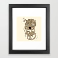 Dead Living by Tree Framed Art Print