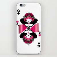 Queen os spades iPhone & iPod Skin