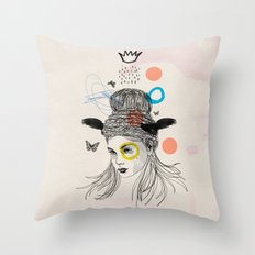 Fool in the Rain Throw Pillow