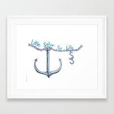 Sam Little Sailor Framed Art Print