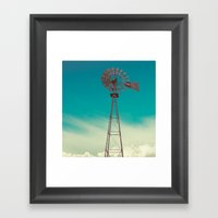 WINDMILL SKY  Framed Art Print