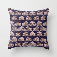 Blue & Peach Daisies Throw Pillow