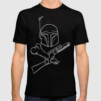 Fett and Crossbones Mens Fitted Tee Black SMALL