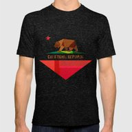 California Mens Fitted Tee Tri-Black LARGE