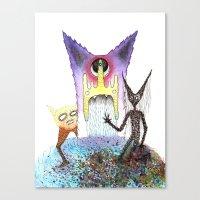 Lunar Trine Canvas Print