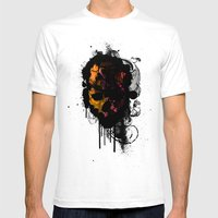 Crushed Mens Fitted Tee White SMALL
