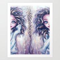 Winter Twins Art Print