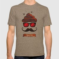 Hipster Hat Mens Fitted Tee Tri-Coffee SMALL