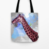 Low poly giraffe Tote Bag