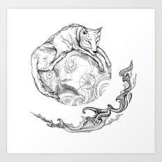 January's moon Art Print