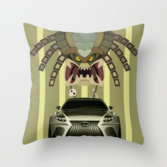Lexus vs Predator Throw Pillow
