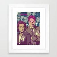 THE X-FILES v2 Framed Art Print