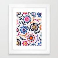 Happy Color Suzani Inspi… Framed Art Print
