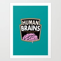 Human Brains Art Print