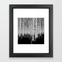 Tree Shadow Framed Art Print
