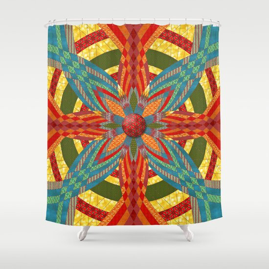Thistle Pattern Shower Curtain