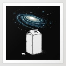 Milky Galaxy Art Print