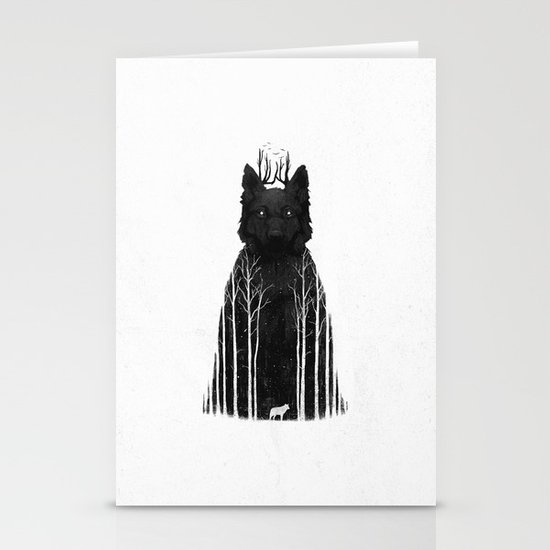 The Wolf King Stationery Card