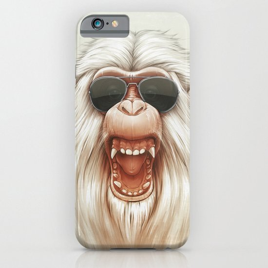 The Great White Angry Monkey iPhone & iPod Case