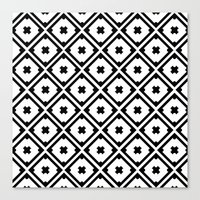 Graphic_Tile Black&White Canvas Print