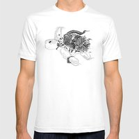 Inking Turtle Mens Fitted Tee White SMALL