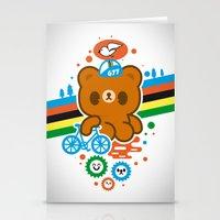 CycleBear - champignon du monde Stationery Cards