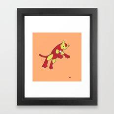The Invincible IronCat Framed Art Print
