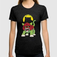 Battle Kitty's Mighty RA… Womens Fitted Tee Tri-Black SMALL