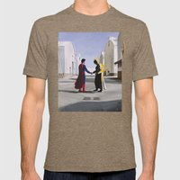 Wish You Were Here Mens Fitted Tee Tri-Coffee SMALL