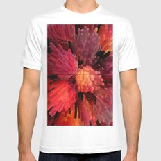 Columns of Peach Mens Fitted Tee White SMALL