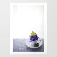 Spring Time Violet Tea - Flowers Art Print