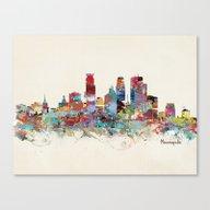 Minneapolis Minnesota Sk… Canvas Print